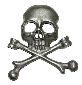"Totenkopf - Totenkopf badge worn by the Brunswick Leibbataillon (""Life-Guard Battalion"") at the Battle of Waterloo in 1815."