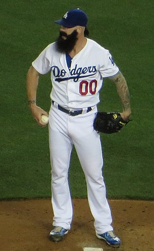 Brian Wilson (baseball) - Wilson during his tenure with the Los Angeles Dodgers in 2014