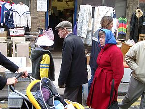 Brick Lane Market - People in Brick Lane Market