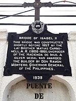 Bridge of Isabel II PHC historical marker - 2.jpg