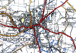 Bridgwater - A map of Bridgwater in 1946