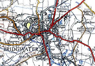 Bridgwater - A map of Bridgwater in 1946