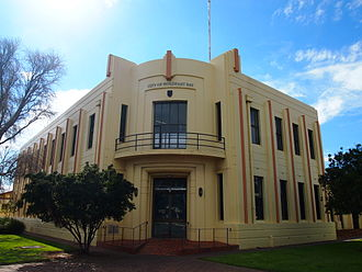 Brighton, South Australia - Brighton municipal building, completed in 1937, was formerly the (second) Brighton Town Hall and is  now one of two City of Holdfast Bay municipal offices.