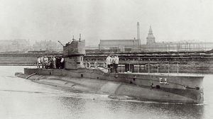 British E-class submarine HMS E3 Sunk on 18 October 1914.png