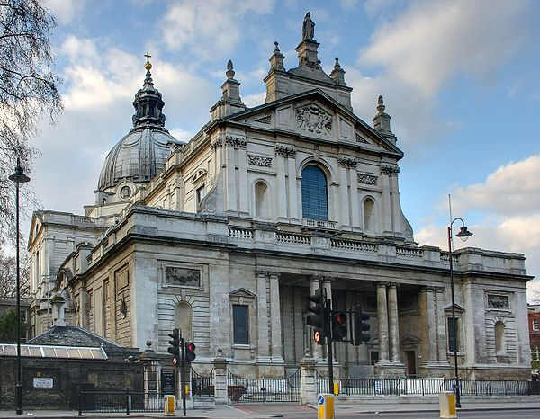 Brompton Oratory in London.