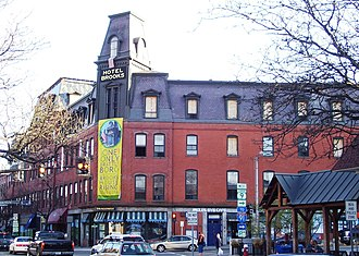 Brattleboro, Vermont - Brooks House, built in 1871 and originally a resort hotel, is the largest commercial building in Brattleboro. Damaged by fire in 2011, it re-opened in 2014.