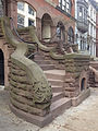 Brownstone staircase in Park Slope Brooklyn.JPG