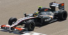 Photo de la Hispania F110 de Bruno Senna à Sakir