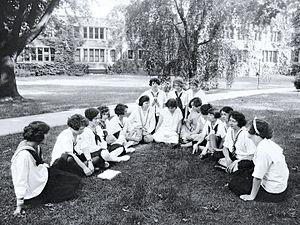 Bryn Mawr Summer School for Women Workers in Industry - Students at the Bryn Mawr Summer School for Women Workers in Industry, ca. 1921