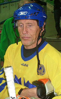 Börje Salming Swedish ice hockey player