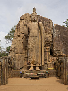 standing statue of the Buddha