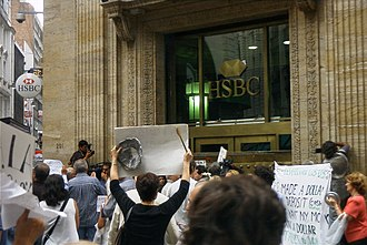 Eduardo Duhalde - Depositors protest in February 2002 against the corralito, which forbade them from withdrawing money from their bank accounts. The measure was lifted in December.