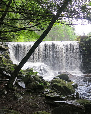 Pelham, Massachusetts - Buffam Falls Conservation Areas is located along the Metacomet-Monadnock Trail