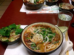 This bowl of bún bò was captured at Bún Bò Huế An Nam