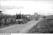 Militari della seconda guerra mondiale al bivio fra Popoli e Isernia.