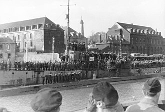 Action of 27 March 1942 - U-123 at Lorient in February 1942.