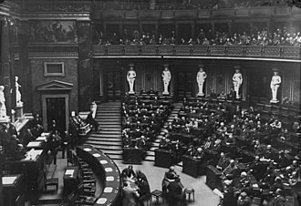 Austrian Parliament Building - The parliament in session in 1930