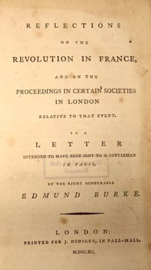 A Vindication of the Rights of Men - Title page from Burke's Reflections on the Revolution in France (1790)