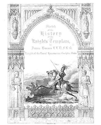 Knights Templar in popular culture - Illustration from Sketch of the history of the Knights templars (1840) by James Burnes