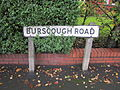 Burscough Road sign, Ormskirk.JPG