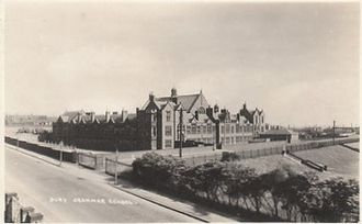 Bury Grammar School (Girls) - 1906 postcard showing the playing fields on which the boys' school now stands