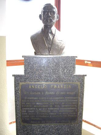 Águas de São Pedro - Bust of the owner of the land that would become Águas de São Pedro, Angelo Franzin