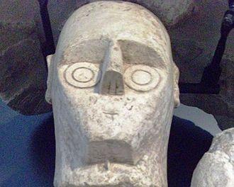 Giants of Mont'e Prama - Giant head from Mont'e Prama