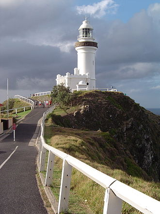 Cape Byron Light - The road leading to Cape Byron Lighthouse