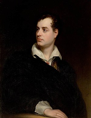 Villa Diodati - Portrait of Byron by Thomas Phillips