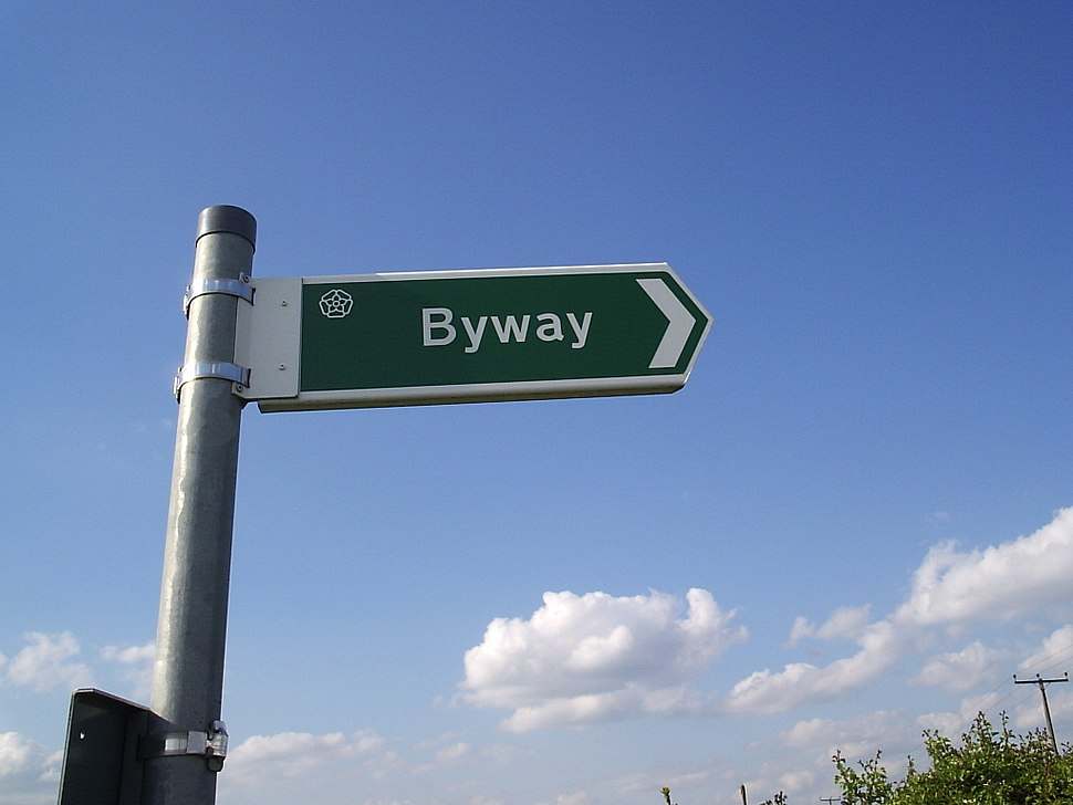 Byway road sign