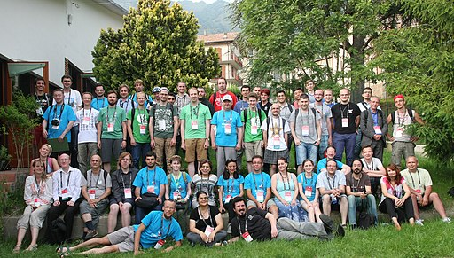 CEE Group photo at Wikimania 2016 Esino Lario