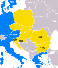 CEFTA members in 2003, before joining the EU