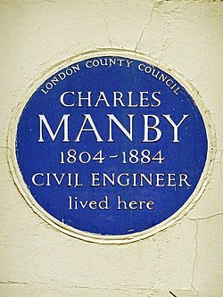 Charles manby 1804 1884 civil engineer lived here