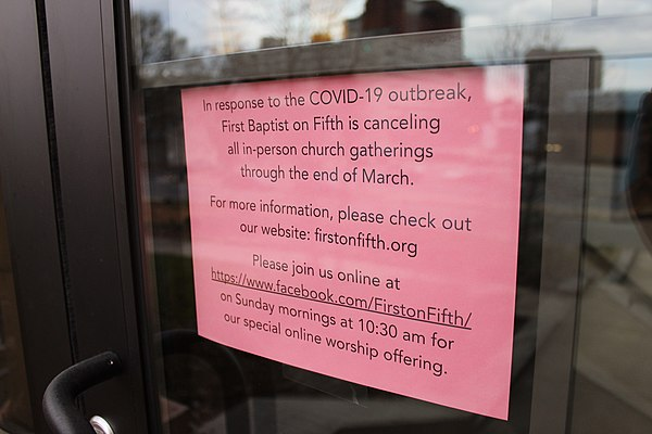 A church forced to closed because of the coronavirus COVID-19 NC church closure.jpg