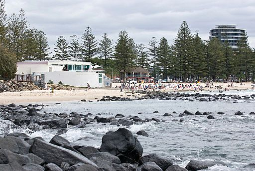 CSIRO ScienceImage 7915 The beach at burleigh Heads on the Gold Coast Queensland