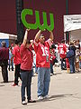 CW TV Network at 49ers Family Day 2009 3.JPG