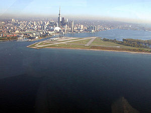 Billy Bishop Toronto City Airport - View from the southwest