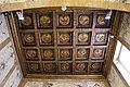 Ca' d'oro, cappella, coffitto a cassettoni con decori a rilievo, XV sec..JPG