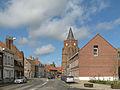 Caëstre, straatzicht met kerk positie1 foto2 2013-05-11 10.26.jpg
