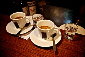 Caffeinated alcoholic drink - Image: Caffè corretto