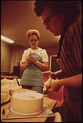 Cake Decorating Class, Part of Continuing Education Program of Colorado Mountain College, Meets in Rifle, 10-1972 (3815031595).jpg