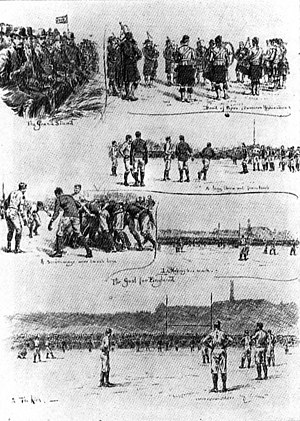 History of rugby union in Scotland - Calcutta Cup match, Raeburn Place, Edinburgh, 1890