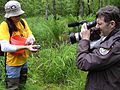 Camerman films release of captively grown bog turtles.jpg