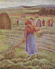 Peasant Girl Raking Hay at Èragny