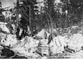 Camp showing tent and piles of supplies, White Pass Trail, ca 1898 (CURTIS 1338).jpeg
