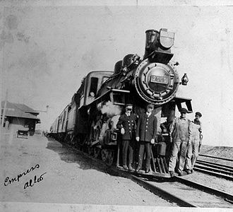 Canadian Pacific Railway - C.P.R. locomotive and employees