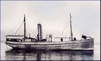 Naval drifter - The Canadian CD-class naval drifter, CD 27, built during World War I for the Royal Canadian Navy. Many became fishing vessels after the war.