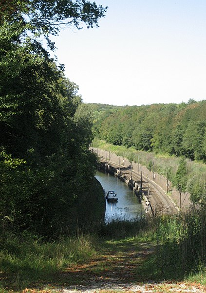 Canal de la Marne au Rhin. Rhine Marne canal, Arzviller tunnel, west entrance.