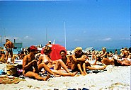 Cannes beach 1980 4