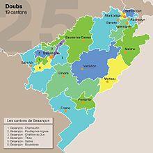 carte du doubs par canton